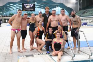 Prince Harry with members of the Australian swim team for Invictus Games Toronto 2017