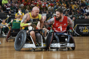 Australia and in UK in c;lose wheelchair rugby final.